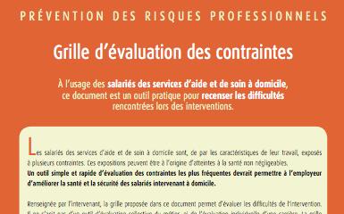 Outil grille d valuation des contraintes de l intervention - Grille d evaluation des risques ...
